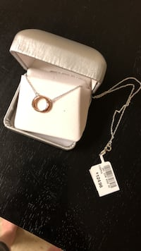 Silver-colored chain link necklace with pendant and box Charles Town, 25414