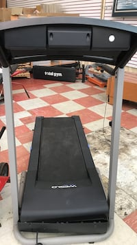 black and gray Weslo treadmill