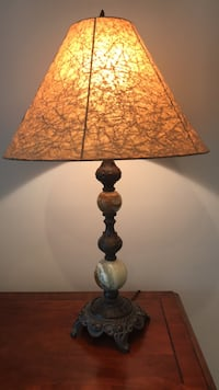 Lamp crinkled paper shade Mount Holly