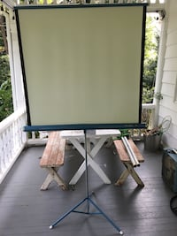 "38"" X 38"" Vintage projector screen Wallingford, 19086"