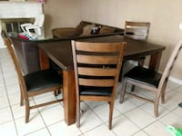 brown wooden table with chairs Montclair, 91763