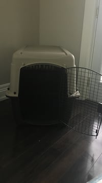 White and black pet cage