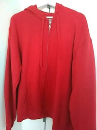 red zip-up hoodie Brooklyn, 11205