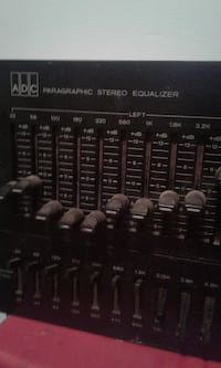Stereo paragraphic rack mount EQ