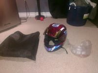 Helmet with bag and two visorz