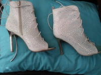 women's tan -zip booties with diamonds  and stones Pensacola