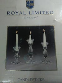 Royal Limited crystal candlestick holders Pittsburgh, 15226