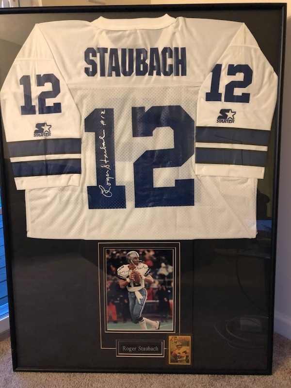 online store f232b 99590 Roger Staubach Autographed Jersey, Picture & Pro-Card