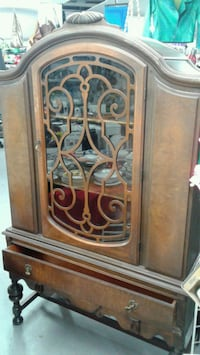 brown wooden framed glass display cabinet Laval, H7V 2W2