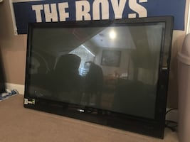 "45"" screen, (not working) flatscreen TV. with power cord"