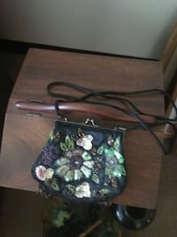 black and green floral tote bag Xenia, 45385