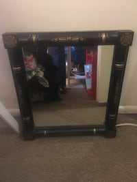 Small squarish black and gold mirror Alexandria, 22306