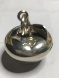 Large Sterling Silver Apple pendant Springwater, L0L 1X0