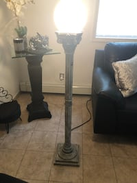 "gray stone lamp like new 55 ""high"