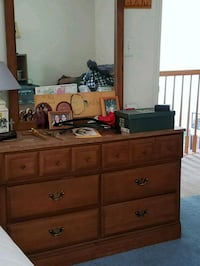 brown wooden dresser with mirror Hanover, 21076
