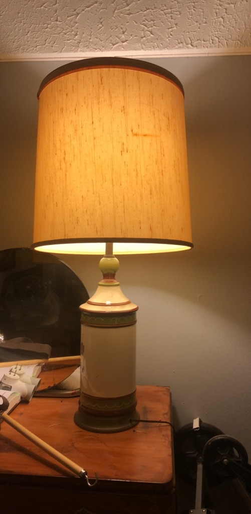 used white and brown table lamp for sale in new york letgo rh gb letgo com