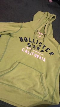 Green blue and white pull over hoodie Hollister  Taylors, 29687