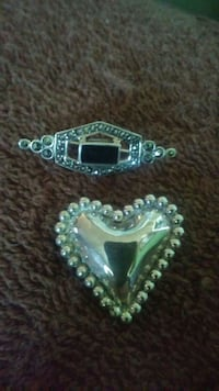 9.25 silver brooches
