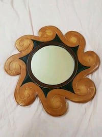 brown wooden framed wall mirror Surrey, V3R 5H5