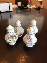 two Royal Albert china salt and pepper shakers Toronto, M9C 1L5