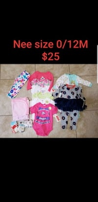 New baby girl clothes size 0/12 m Las Vegas, 89120