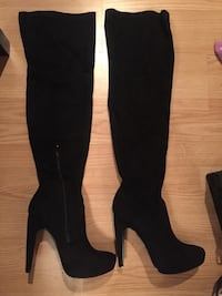 Brand new tall black suede boots. Price firm!! Montréal, H9J 1Z3