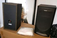 Pair of Large Sony speakers with RCA Subwoofer Toronto, M9A 4Y3