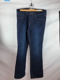 blue denim straight-cut jeans Edmonton, T5T 4A2