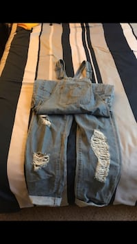distressed blue overalls Moreno Valley, 92555