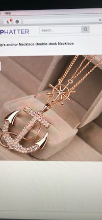 Gold-colored anchor necklace screenshot Manson, 98831