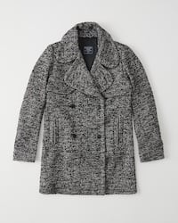 NEW Herringbone Wool Coat from Abercrombie & Fitch (Size S) Montreal, H2V 4P2