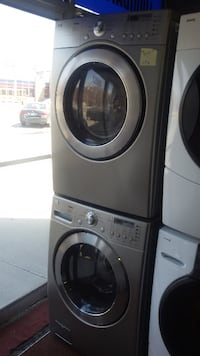 white front-load washer and dryer set MONTREAL