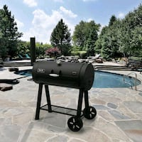 Signature Heavy-Duty Barrel Charcoal Grill in Blac Houston, 77039