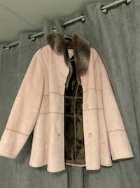 Rose pink and brown button-up coat Welland, L3C 1W3