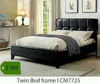 black wooden bed frame with mattress Santa Fe Springs, 90670