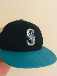 Throwback Seattle Mariners Authentic 7 3/8 Fitted Hat Fairfax, 22030