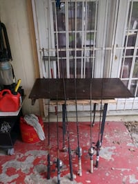 Old fishing poles