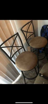 two black metal framed brown padded chairs Tempe, 85284