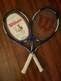 two white and blue tennis rackets Brea, 92821