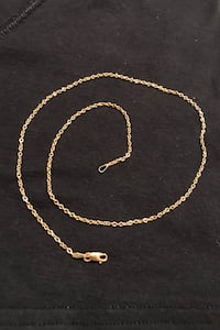 New.  14k yellow gold necklace.  18 inches of Italian gold.  Perfect for a pendent or as is for a night on the town. Fullerton, 92831