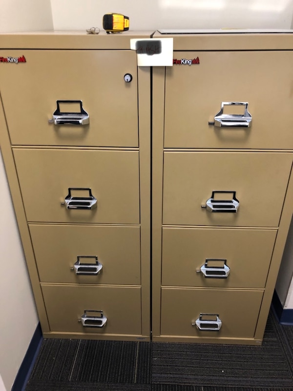 Fire King 4 Drawer File Cabinet Locking