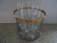 clear glass pitcher with lid FREDERICK