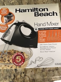 Black and silver hamilton beach hand held mixer not negotiable. Vaughan, L4H 3P6