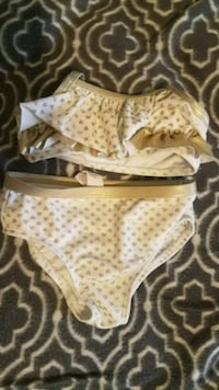 White/gold bathing suit Norris