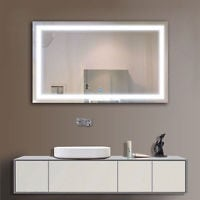 LED 40 x 30 mirror with white frame