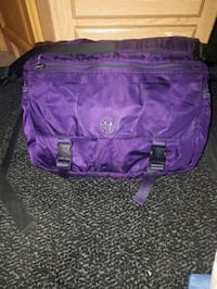 purple and black leather bag Westbank, V4T 2W3