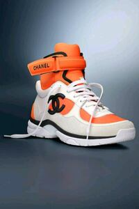 NEW CHANEL ORANGE NEOPRENE HIGHTOPS FOR MEN&WOMEN Toronto