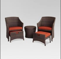 Conversational patio set new with cushions