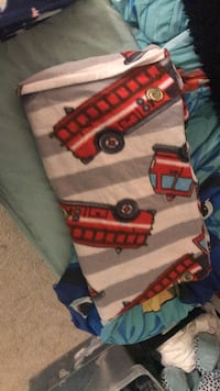 Red and yellow truck toy blanket Beltsville, 20705