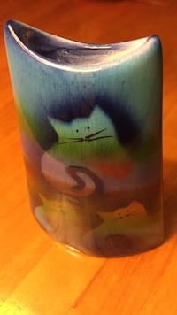 Ceramic Cat Design Vase